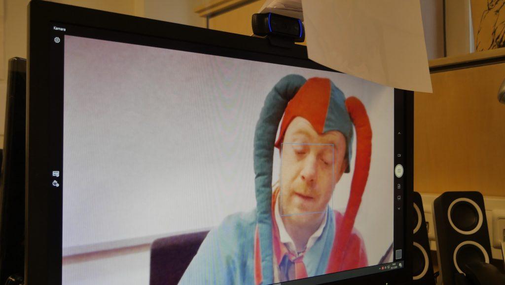 Till bei der Videokonferenz; Foto: © Kathrin Thomann