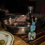 Der Tag an der frischen Luft hatte Till hungrig gemacht und er verputzte das ganze Steak