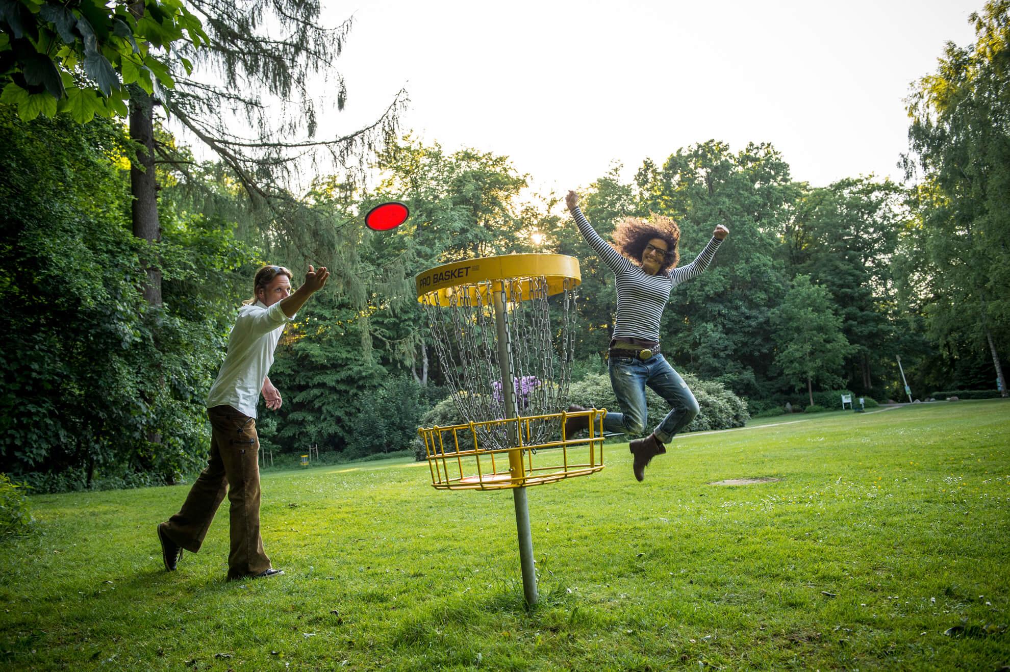Disc-Golf mit Kindern