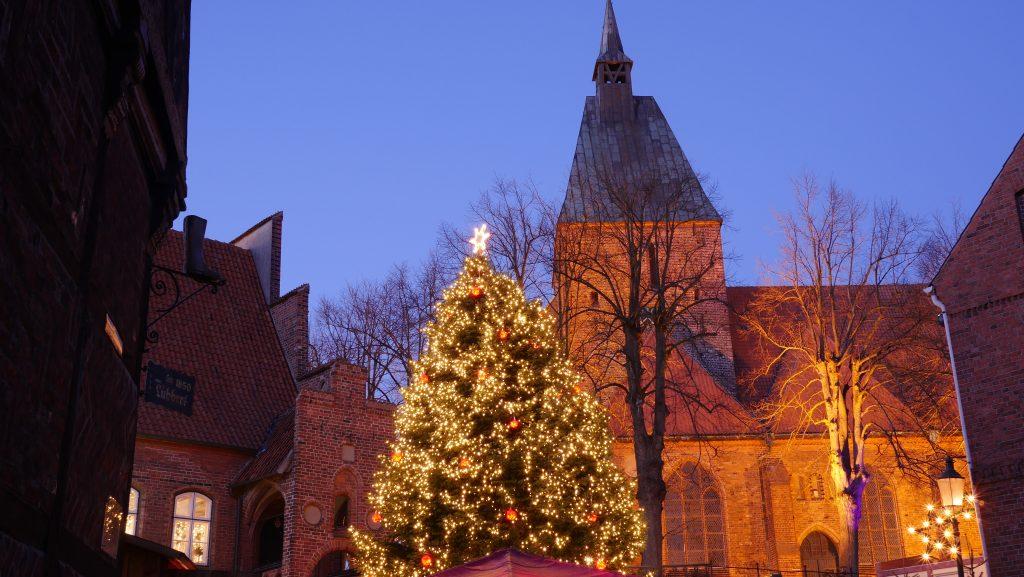 Tannenbaum auf dem Marktplatz; Foto: © Jochen Buchholz