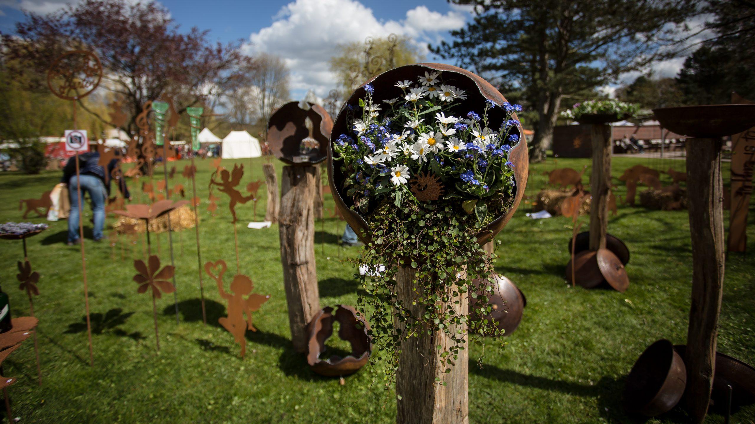 Deko auf der Gartenromantik