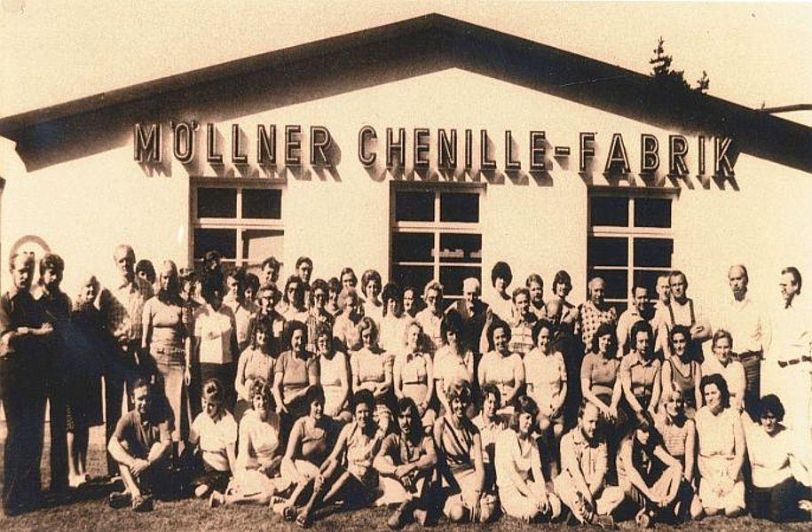 Belegschaft Chenille-Fabrik 1975; Foto: © Stadtarchiv Mölln