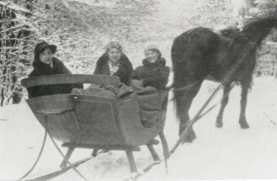 Pferdeschlitten 1920er Jahre; Foto: © Stadtarchiv Mölln