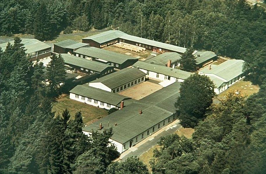 Luftbild Chenille-Fabrik, Görlitzer Ring 1991; Foto: © Stadtarchiv Mölln