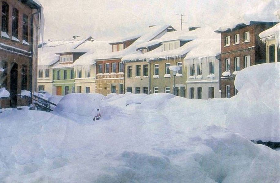 Seestraße im Schneewinter 1978/1979; Foto: © Stadtarchiv Mölln