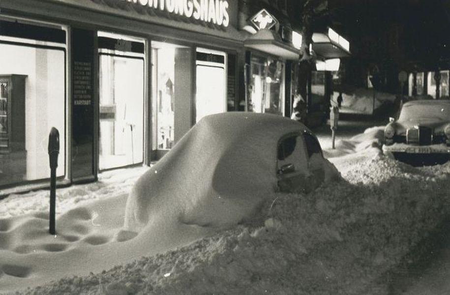 Hauptstraße im Schneewinter 1978/1979; Foto: © Stadtachiv Mölln